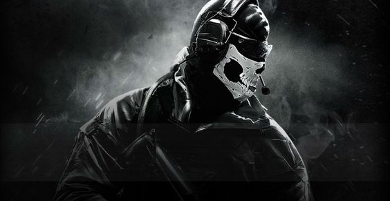 Call Of Duty Ghosts military warrior soldier weapon gun dark skull mask