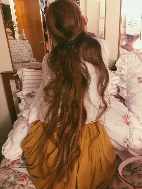 Waist long hair / IG:  @paigekellerphillips