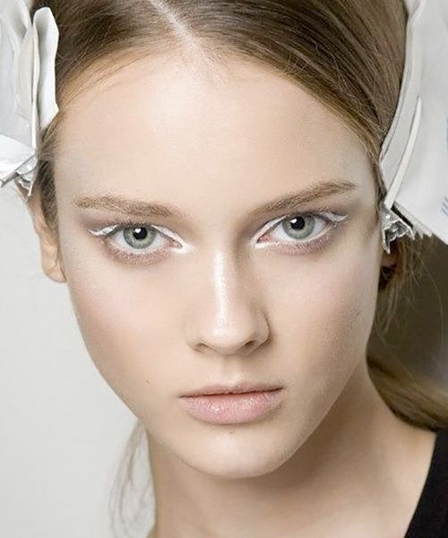 Brighten up your look with white eye makeup