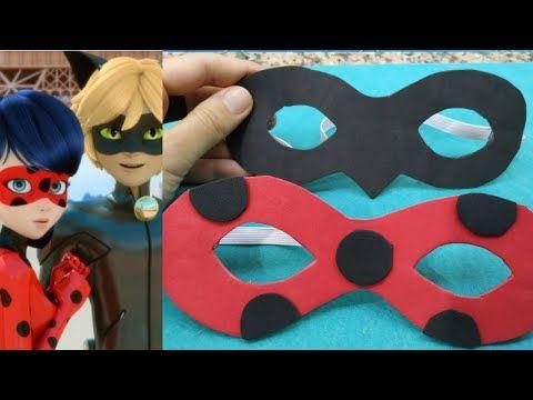Diy Mucizevi Ugur Bocegi Ve Kara Kedinin Maskesi Nasil Yapilir Tutorial Miraculous Ladybug Mask Youtube Kedi Kara Kedi Maskeler
