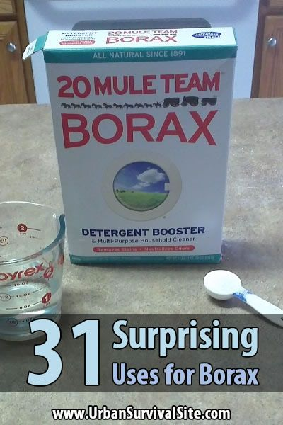 One box of borax can be used to clean almost anything around the house and it takes up very little space, leaving you room to store more important things.