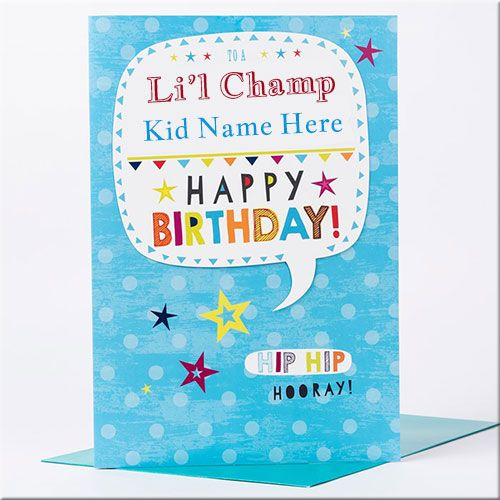 Write Name On Happy Birthday Wishes Cards For Kids Online Create Happy Birthday Wishes Birthday Card With Name Happy 10th Birthday Happy Birthday Celebration