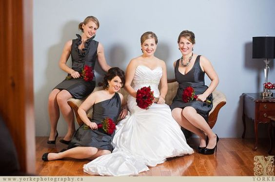 Help with Accent Colors for my Gunmetal/Pewter Bridesmaid dresses!! :  wedding 20111228151435 IMG 9501 Yorke Web