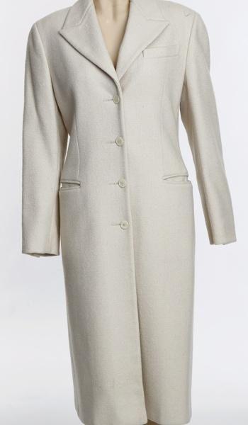 White Prada coat
