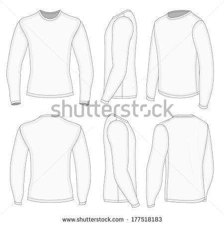 Download Download Template Kaos Lengan Panjang Depan Belakang Psd Lengan Panjang Kaos Sketsa Model Pakaian