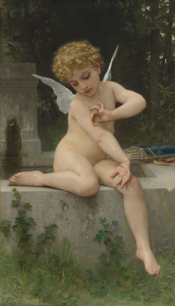 William Bouguereau - Cupido con una mariposa