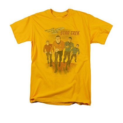 Star Trek Animated Yellow Tee Shirt