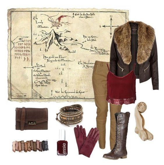 """Thror's Map Inspired - The Hobbit - Tolkien"" by ginger-rogers ❤ liked on Polyvore featuring Ports 1961, Massimo Alba, River Island, Chan Luu, Essie, Urban Decay, John Lewis and Refresh"