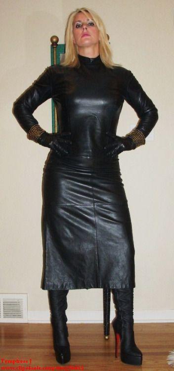 leather femdom authority