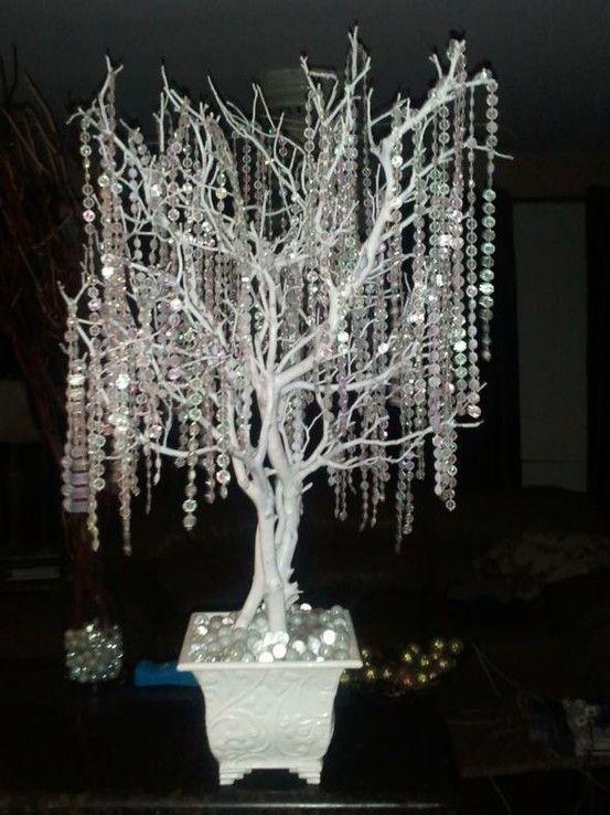 Winter wedding centerpiece the day that cinderella didn