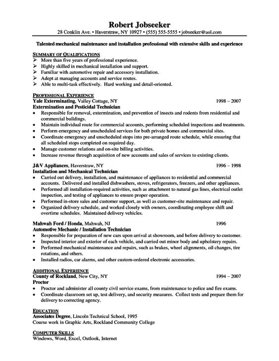 Best personal statement for resume The Need for Encryption - electronic repair technician resume