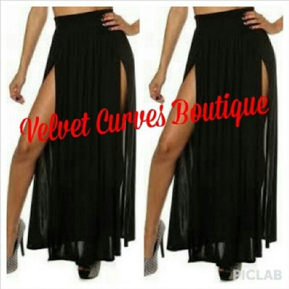 .@velvetcurvesinc | We have the high waist double split skirt in stock and ready to ship. Limited... | Webstagram - the best Instagram viewer