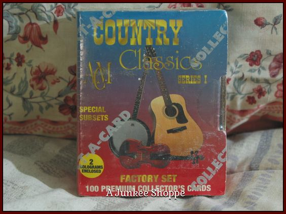 COUNTRY CLASSIC Music 1992 Trading Card Series 1 Set Of 100 Collect-A-Cards 0862 http://ajunkeeshoppe.blogspot.com/
