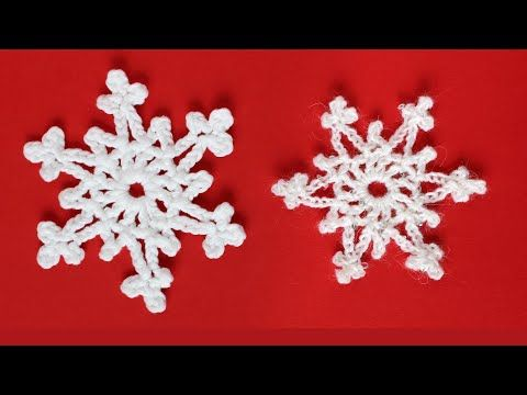 Easy 2 Row Crochet Snowflake Knit Crochet Christmas In 2020 Crochet Christmas Snowflakes Crochet Snowflakes Crochet Christmas Ornaments
