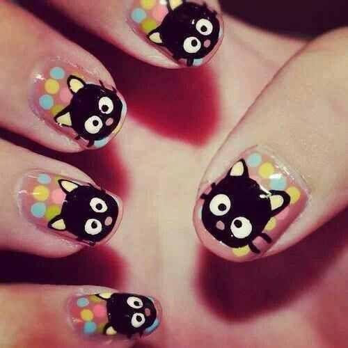 Kitty Nail Art