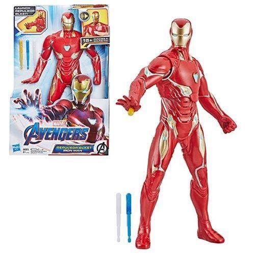 Avengers Endgame Repulsor Blast Iron Man 13 Inch Electronic Action Figure Iron Man Action Figures Repulsor Iron Man