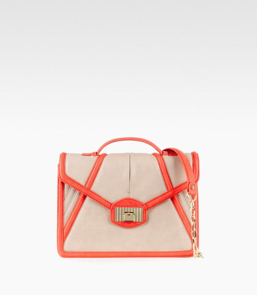 Mia Shoulder Bag - cream ostrich combo.  Need this!