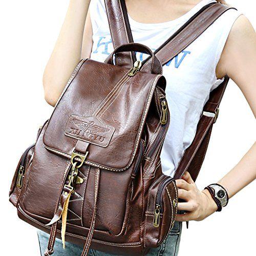 Womens Leather Backpack Handbag