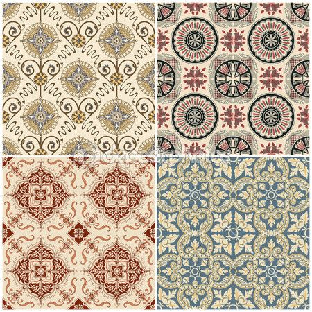 seamless vintage background collection - victorian tile — Stock Vector © Pavel Sivak #9783997