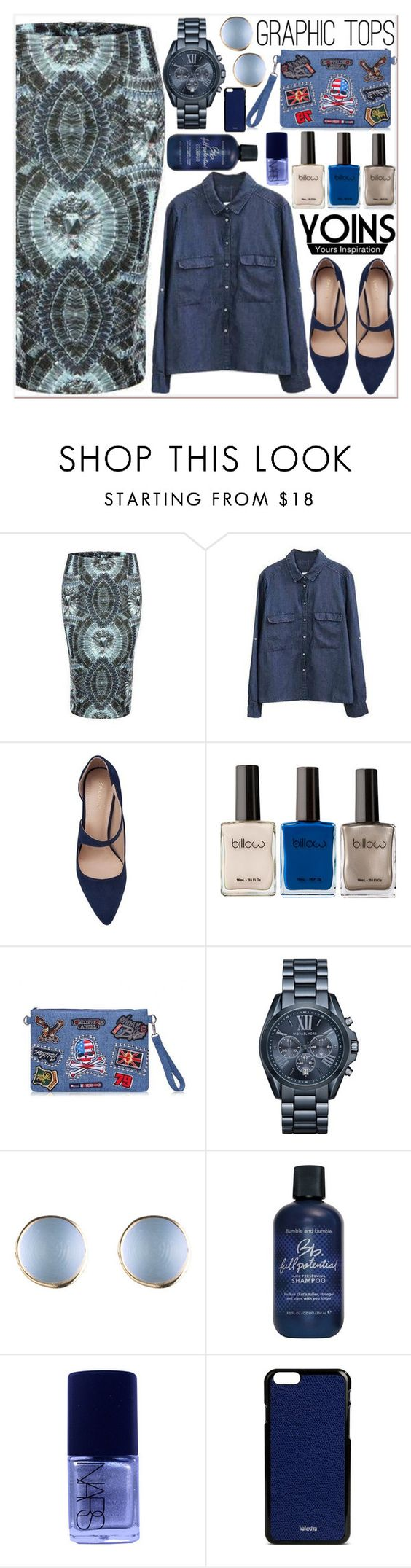 """Yoins 18"" by black-fashion83 ❤ liked on Polyvore featuring ZALORA, Michael Kors, Bumble and bumble, NARS Cosmetics, Valextra, women's clothing, women, female, woman and misses"