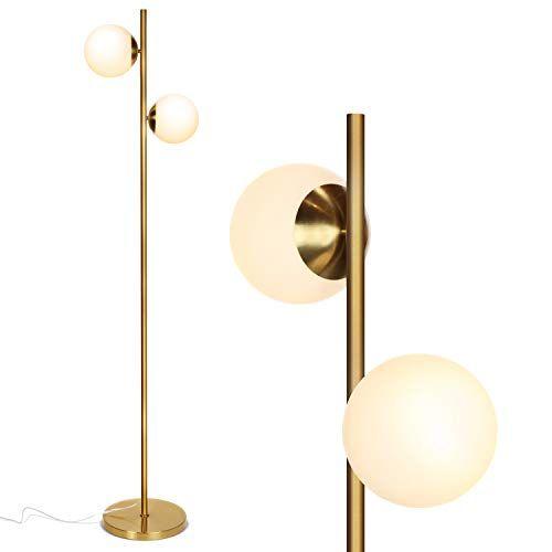 Mid Century Modern 2 Globe Floor Lamp