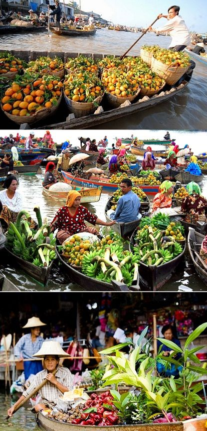 The Damnoen Saduak floating market near Bangkok - incredible!!!
