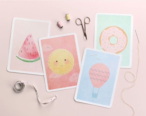 Sewing and stitching #cards #DIY