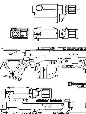 Halo 4 – Sniper Rifle – Blueprint – Featured