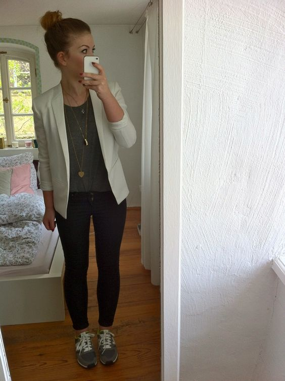 blazer with sneakers