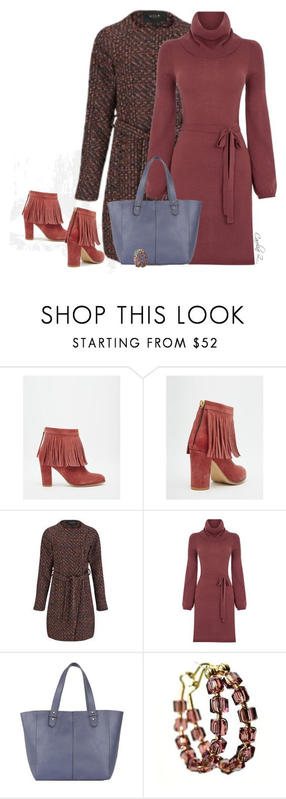 """Dress and Boots"" by carolinez1 ❤ liked on Polyvore featuring ASOS, VILA, Oasis, Warehouse, women's clothing, women's fashion, women, female, woman and misses"