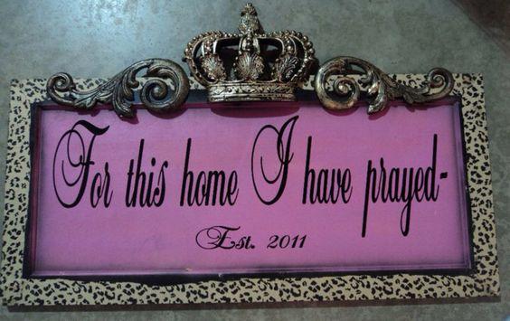 Pink Leopard Plaque #leopardprint #forthishome