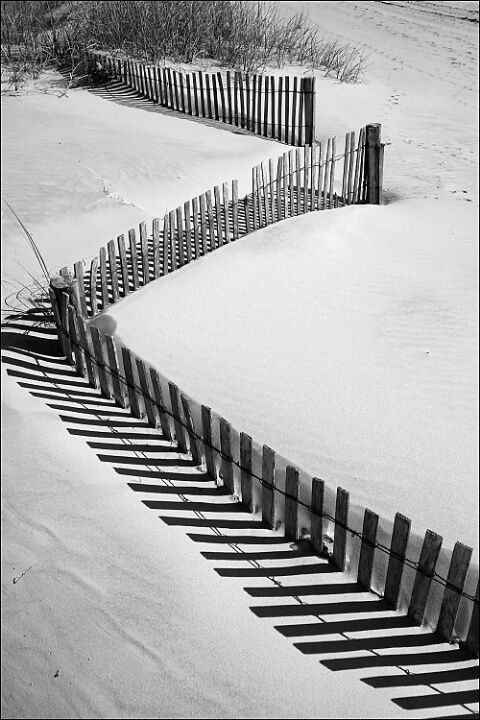 Don't know where the fence is going but the snow sure would be nice for a hot day like today.