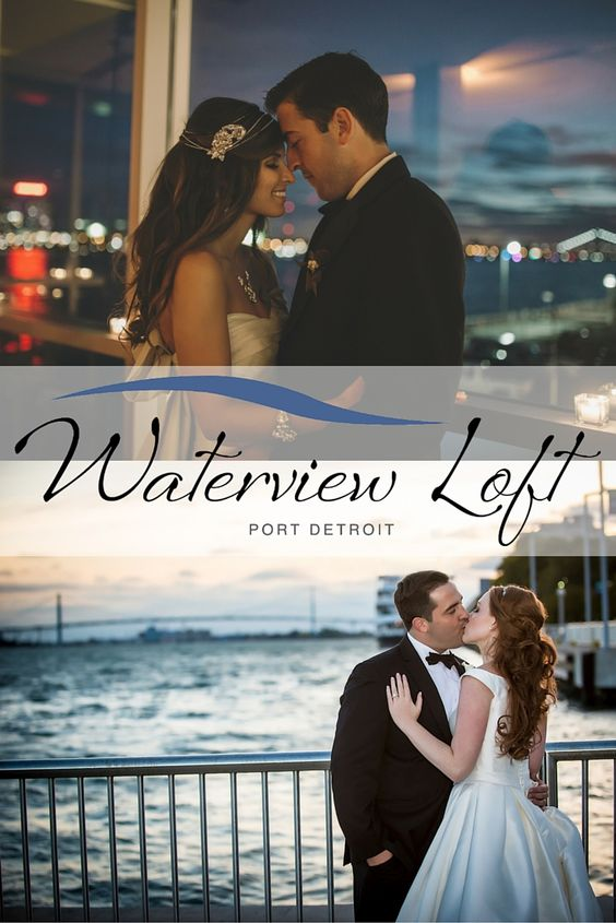Two levels: our upper loft, dockside terrace and an amazing skyline view inside and out. It's not your typical event venue; the Waterview Loft is something more…the perfect location for your perfect wedding (313) 656-6000 | Images: Rachel Shomsky Photography, Koo Studio Photography