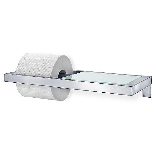 Menoto Wall Mounted Toilet Paper Holder With Glass Shelf Toilet Paper Holder Glass Shelves Wall Mounted Toilet