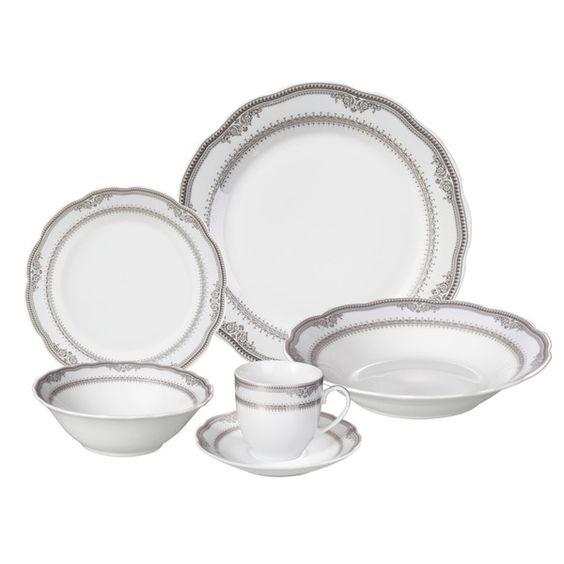 Lorren Home Trends 'Victoria' 24-piece Porcelain Dinnerware Set