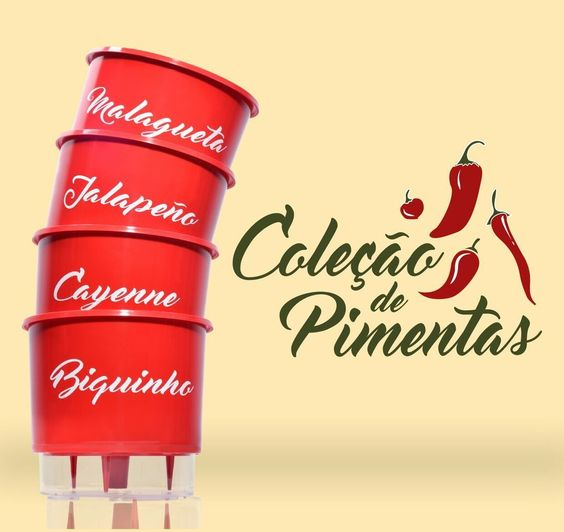 Olha a novidade!   A linha de Vasos Autoirrigáveis coleção Pimentas está chegando, finalmente.   A partir de sexta-feira (22/07) você encontrará esses lindos vasinhos para o plantio de pimentas disponíveis oficialmente em nossa loja.
