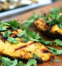 Mango Curry Grilled Chicken