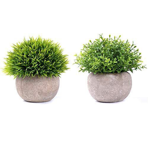 2 Pcs Yqing Plantes Succulentes Artificielles Vertes Pot Plantes Grasses Home Garden Table Deco En 2020 Fausse Plante Fleurs Artificielles Plante Salle De Bain
