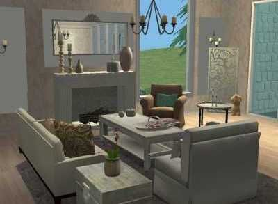 Georgia OKeeffe Inspired Living Room In My Sims 2 Game View 3