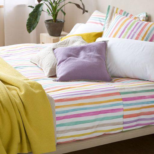 Copripiumino Stampa a Righe Multicolori