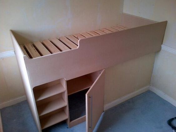 Cabin Bedroom Fitted Furniture: Stairs, Beds And Boxes On Pinterest