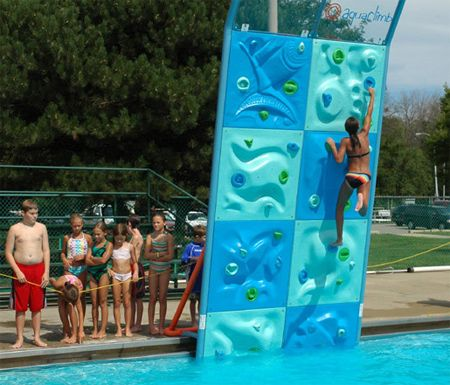 Aquaclimb Is A Modular Rock Climbing Wall System For Your Swimming Pool Follow Poolsupplyworld