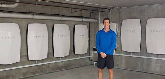 Tesla Energy and solar installation with 6 Powerwall units cutting $13,000 per year in e...