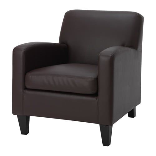 Jappling Armchair Kimstad Dark Brown Ikea Ikea Leather Chair Ikea Armchair Armchair