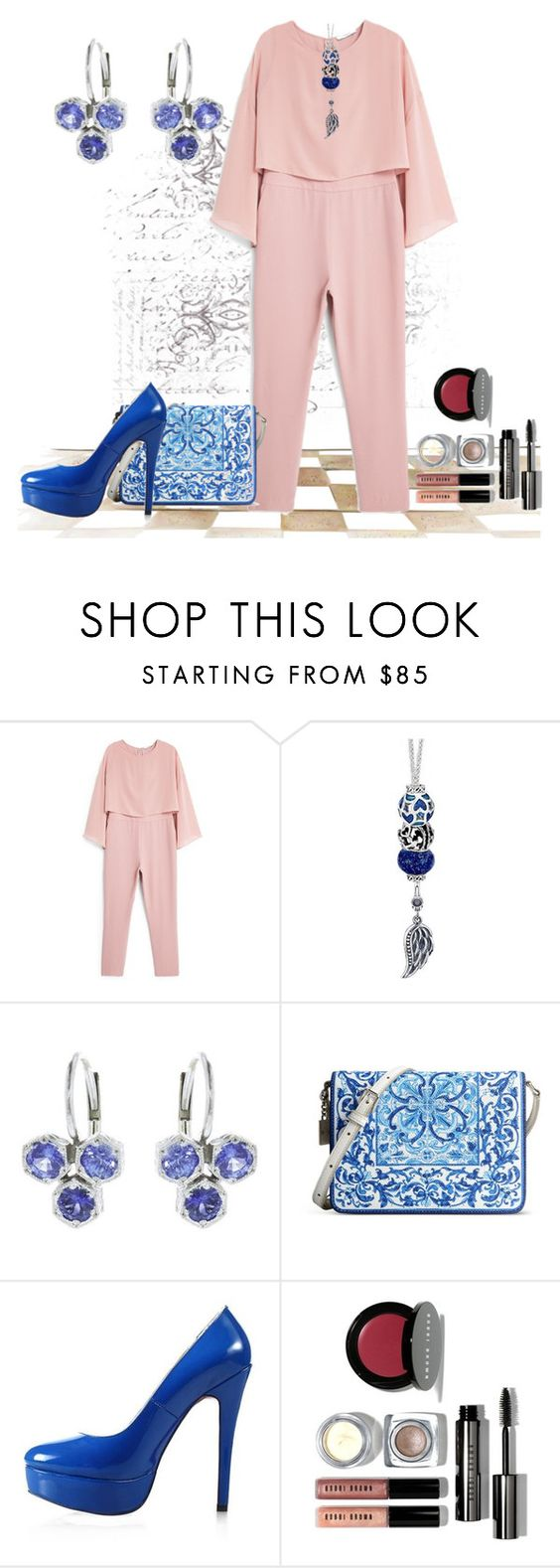 """""""Untitled #2539"""" by empathetic ❤ liked on Polyvore featuring MANGO, Cathy Waterman, Dolce&Gabbana, Posh Girl and Bobbi Brown Cosmetics"""