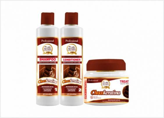 CHOCOKERATINA  Ideal para reparar y fortalecer los cabellos quebradizos. Alisa progresivamente el cabello, aportando brillo y suavidad.