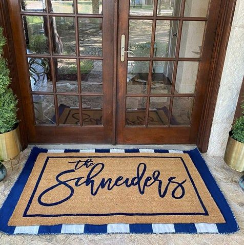 32++ Personalized outside door mats inspirations