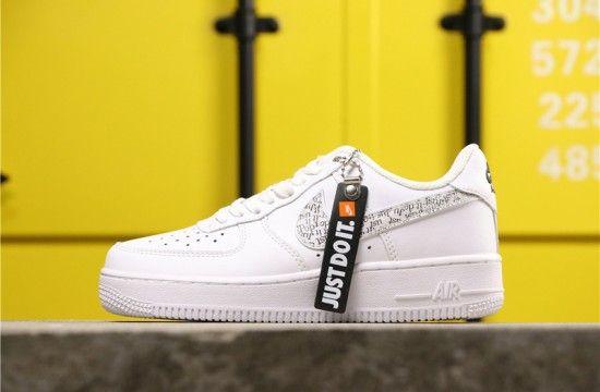 Nike Air Force 1 07 Premium Just Do It White Black Orange
