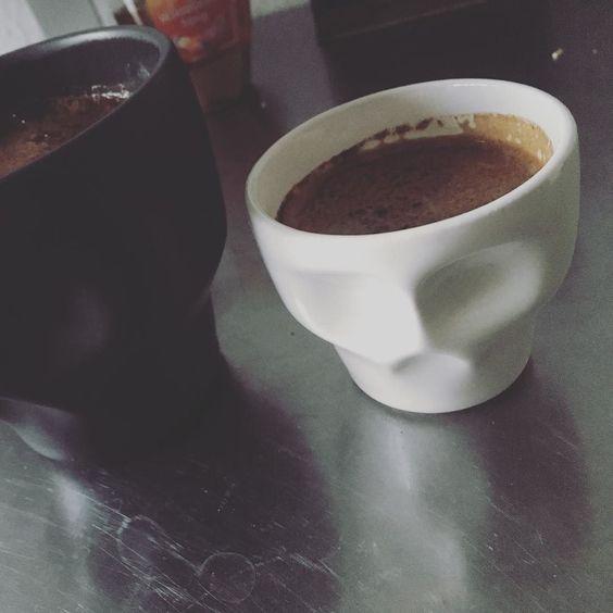 Good Morning  #3dprinting #ceramics #skull #coffee #coffeemug by _andre_na