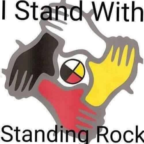 I Stand With Standing Rock - No DAPL - Water is Life: